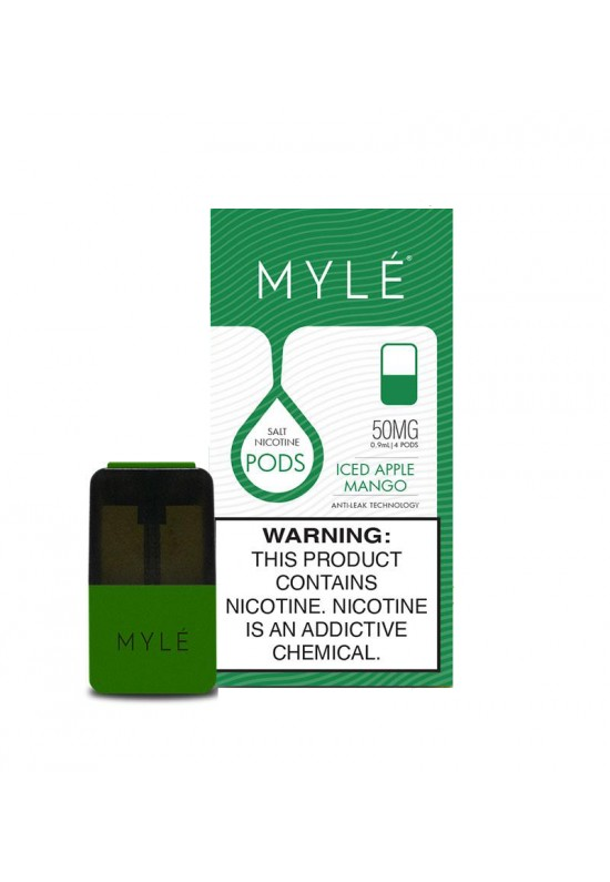 Myle Pods Iced Apple Mango   V4  4 Pcs